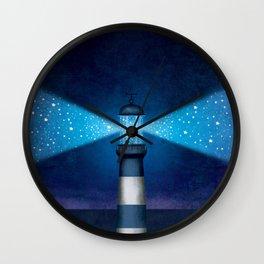 Stars Lighthouse Wall Clock