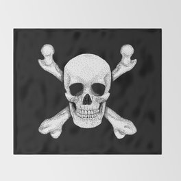 Jolly Roger - Deaths Head Pirate Skull Charge Throw Blanket