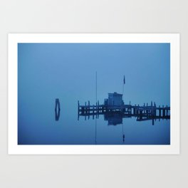 Azure Reflections Art Print