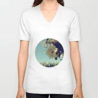 blossom V-neck T-shirts featuring Blossom by yuvalaltman
