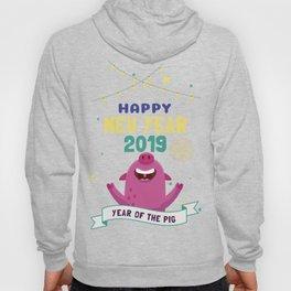 Happy New Year 2019 Year Of The Pig Shirt NYE T-Shirt Hoody