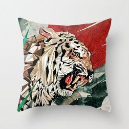 """""""Panthera Tigris"""" Throw Pillow"""