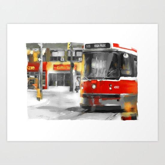 Toronto Streets 1 Art Print