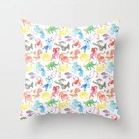 zodiac Throw Pillows featuring Zodiac by holi