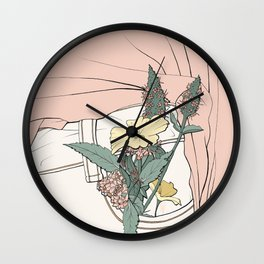 Pocket Plants Wall Clock