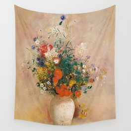 Odilon Redon - Vase of Flowers (1906) Wall Tapestry