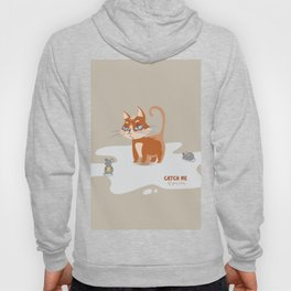 Ginger Cat and Mice Catch me If You Can Hoody