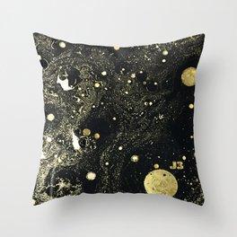 Cosmic Gold Throw Pillow