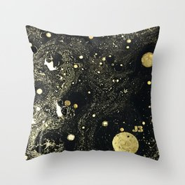 Cosmic Gold Throw Pillow