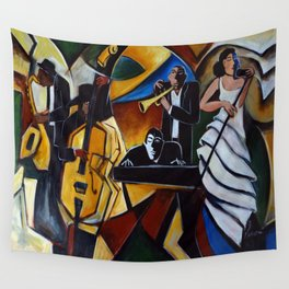 The Jazz Group Wall Tapestry