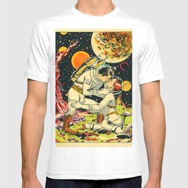Space Man Embrace T-shirt