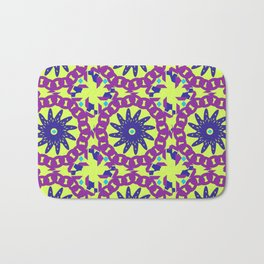 Chained Link Purple Spiral Flowers Bath Mat