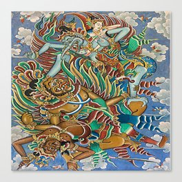 Batik Wayang Canvas Print