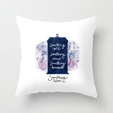 tardis - doctor who Throw Pillow