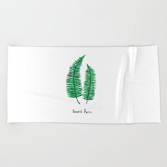 sword fern Beach Towel