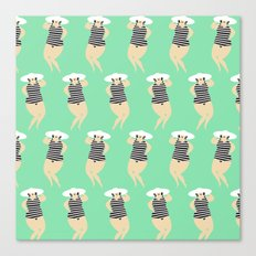 Bathing Beauties Canvas Print