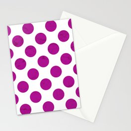 Fuchsia Polka Dot Stationery Cards