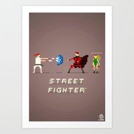 Pixel Art Street Fighter Art Print