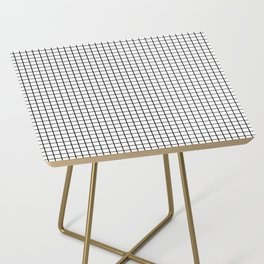 Black and White Grid Graph Side Table