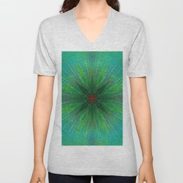 Flora Explosion Unisex V-Neck