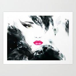 Beauty's Face Art Print