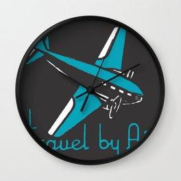 Travel By Air Wall Clock