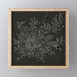 Mount Rainier, WA Contour Map Framed Mini Art Print