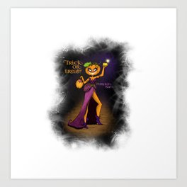 Pumpkin Bae - Halloween Girl Art Print