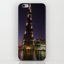 Burj khalifa at night iPhone Skin