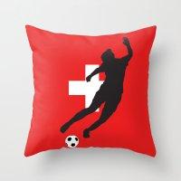 switzerland Throw Pillows featuring Switzerland - WWC by Alrkeaton