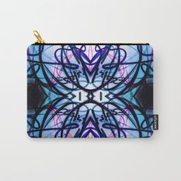 Loopy Lines Abstract Art Sky Blue Carry-All Pouch