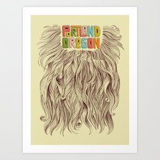Portland = Beards Art Print