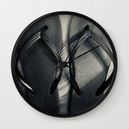 noir flip flops Wall Clock
