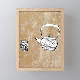 Chinese Tea Doodles 2 Framed Mini Art Print