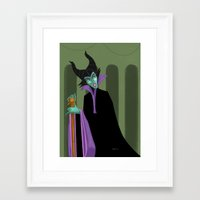 maleficent Framed Art Prints featuring Maleficent by DROIDMONKEY