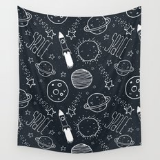 Space Doodles Wall Tapestry