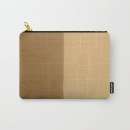 Imperfect Smooth VS Orange Peel Textures Minimalism Earth Tone Art - Corbin Henry Carry-All Pouch
