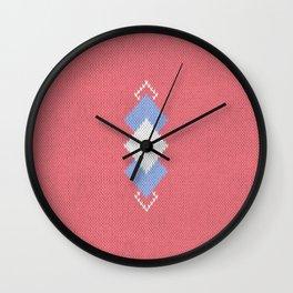 Wool diamonds 01  Wall Clock