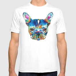 Colorful French Bulldog Dog Art By Sharon Cummings T-shirt