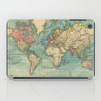 vintage map iPad Cases featuring Vintage map by Hipster's Wonderland