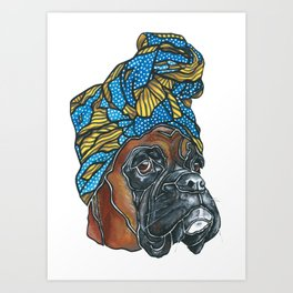 Bridgette the Boxer Dog Art Print