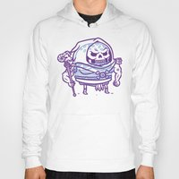 skeletor Hoodies featuring Cheeseburger Skeletor by Philip Tseng