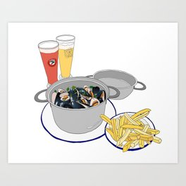 Mussels from Brussels Art Print