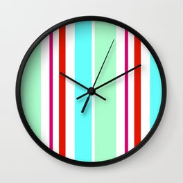 Stripes in colour 2 Wall Clock