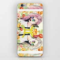 gemini iPhone & iPod Skins featuring Gemini by Sara Eshak