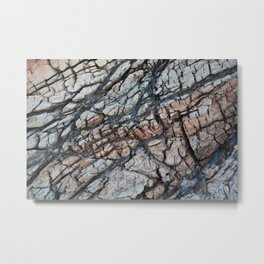 Cracked Rock Abstract Metal Print