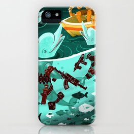 Dolphin Assassins iPhone Case