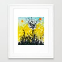 tim burton Framed Art Prints featuring Tim Burton by Jose Luis