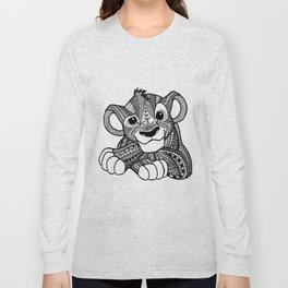 Zentangle Simba Long Sleeve T-shirt