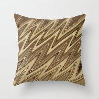 golden Throw Pillows featuring Golden by DesignsByMarly